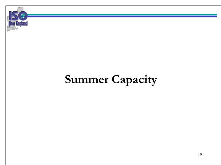 Summer Capacity
