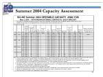 summer 2004 capacity assessment1