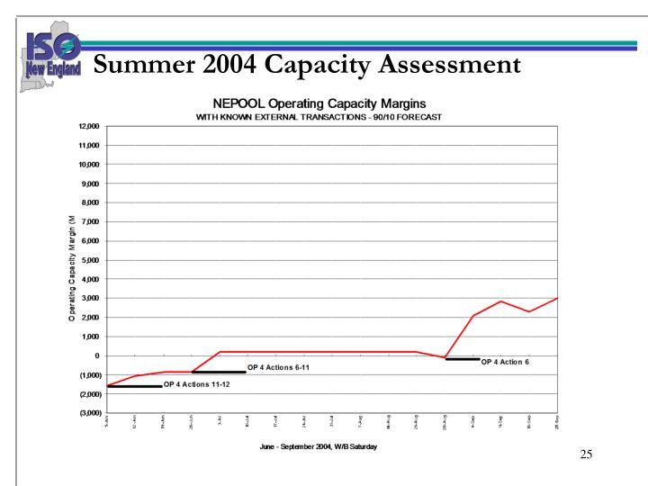 Summer 2004 Capacity Assessment