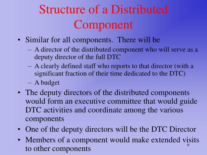 Structure of a Distributed Component