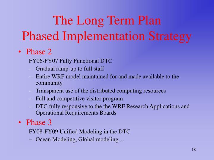 The Long Term Plan