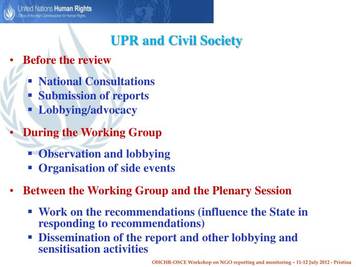 UPR and Civil Society