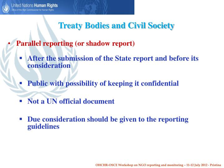 Treaty Bodies and Civil Society
