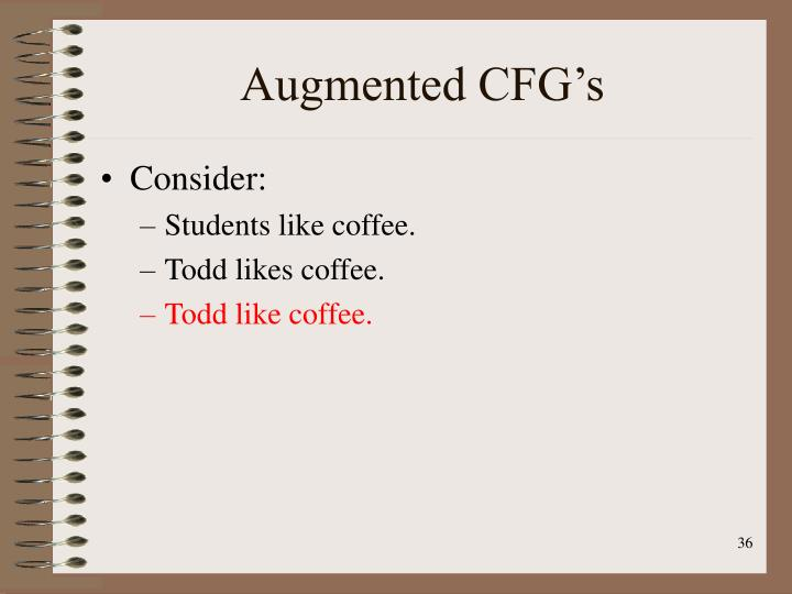 Augmented CFG's