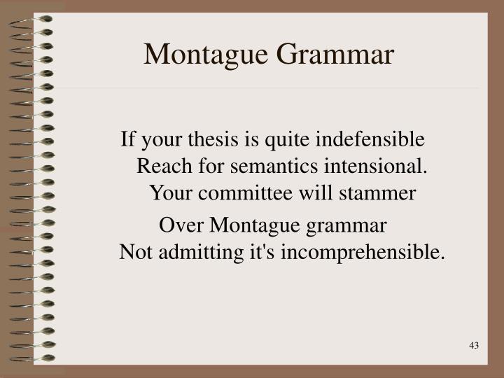 Montague Grammar