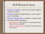 nlp research areas