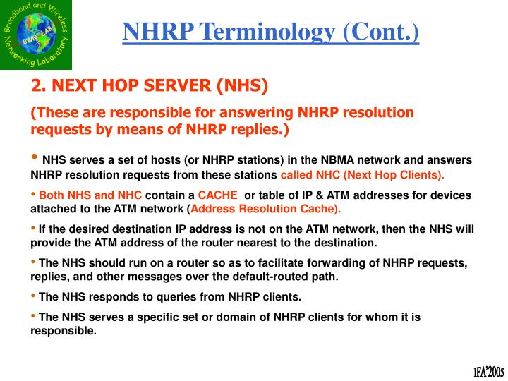NHRP Terminology (Cont.)