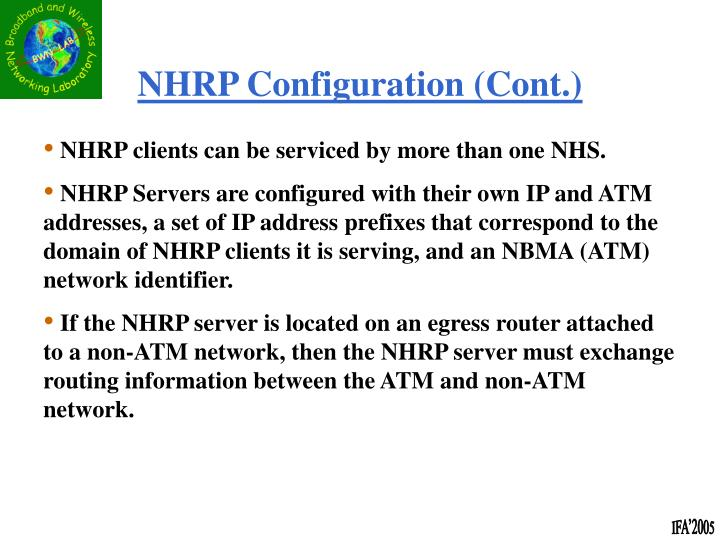 NHRP Configuration (Cont.)