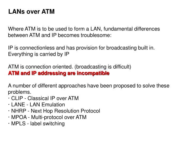 LANs over ATM