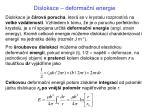 dislokace deforma n energie