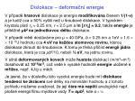 dislokace deforma n energie1