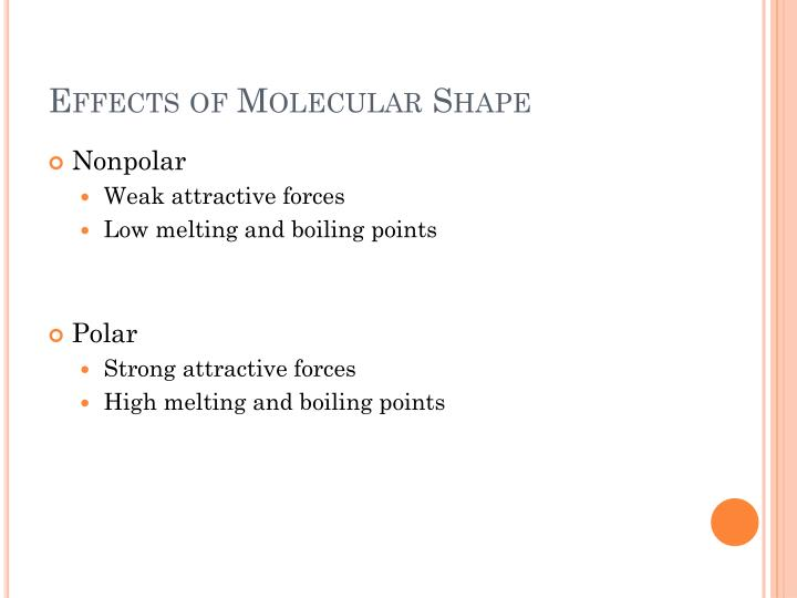 Effects of Molecular Shape