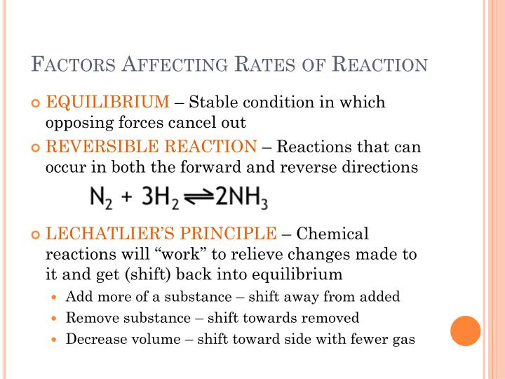Factors Affecting Rates of Reaction
