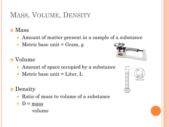 Mass, Volume, Density