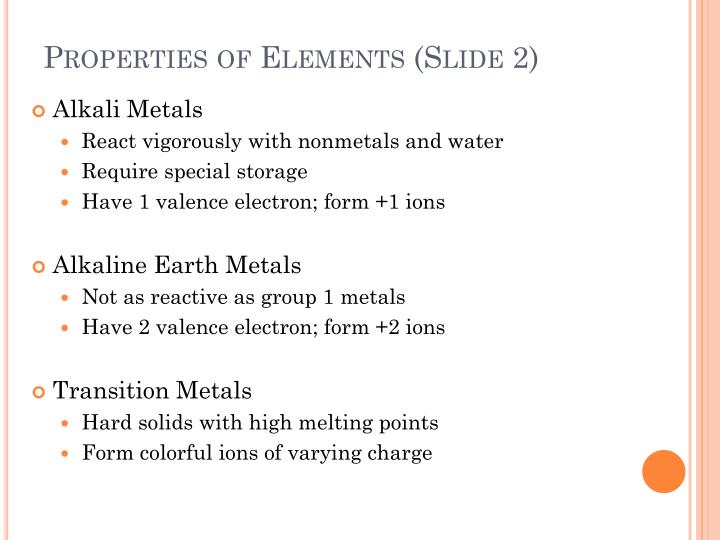 Properties of Elements (Slide 2)