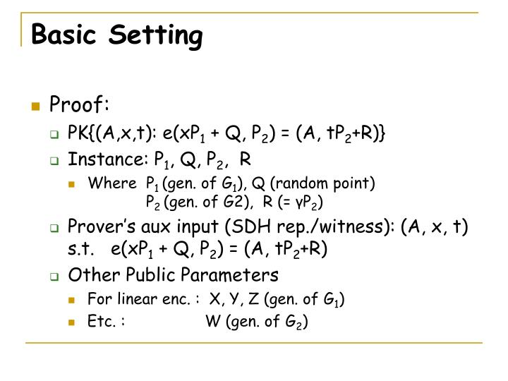 Basic Setting