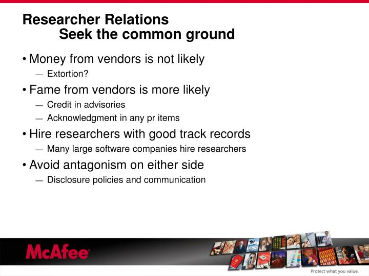 Researcher Relations