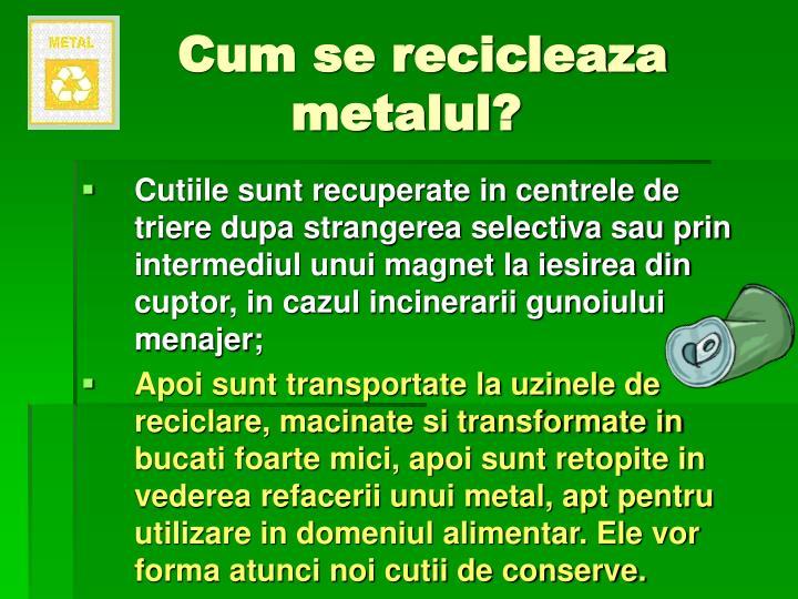 Cum se recicleaza