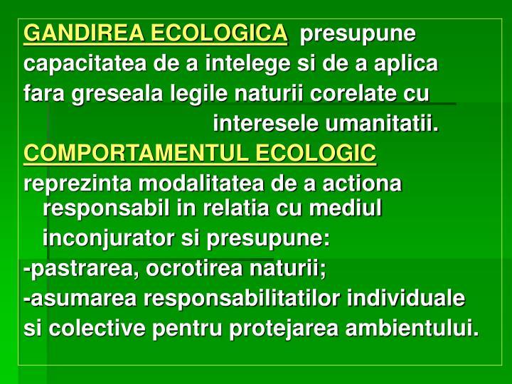 GANDIREA ECOLOGICA