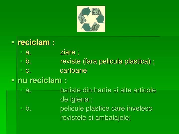 reciclam: