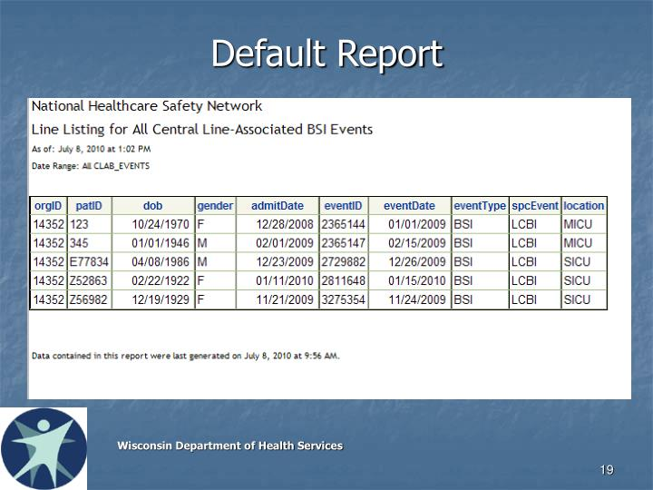 Default Report