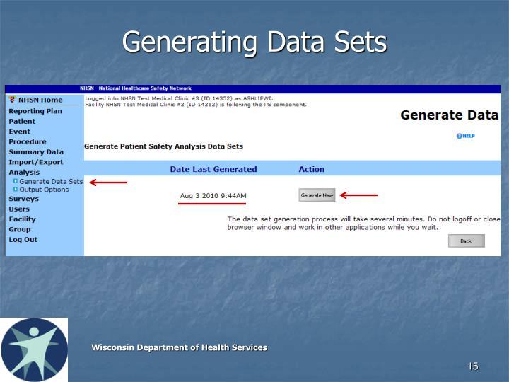 Generating Data Sets