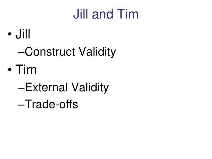 Jill and Tim