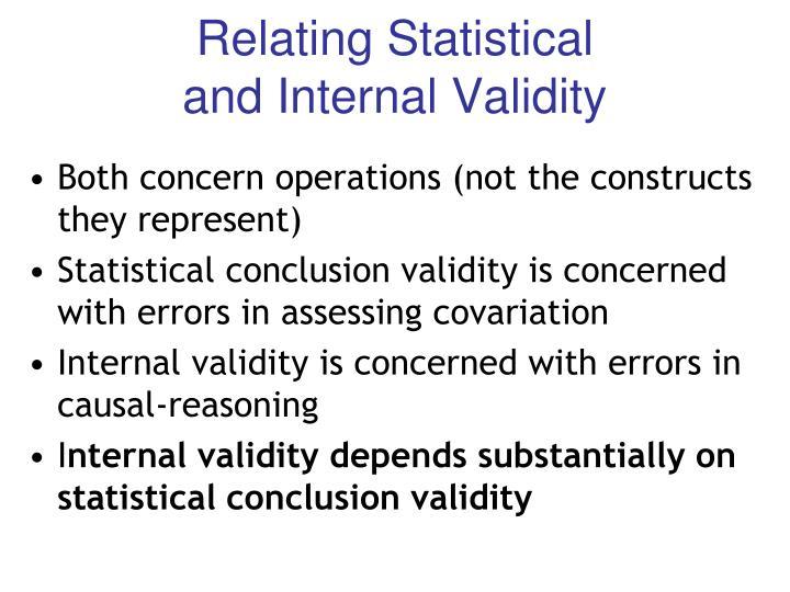 Relating Statistical