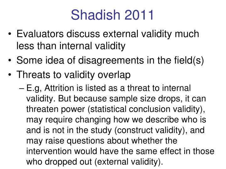 Shadish 2011