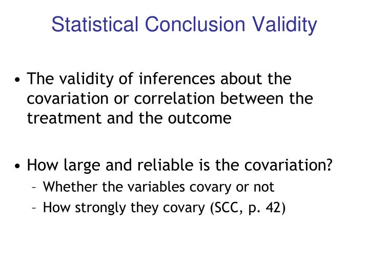 Statistical Conclusion