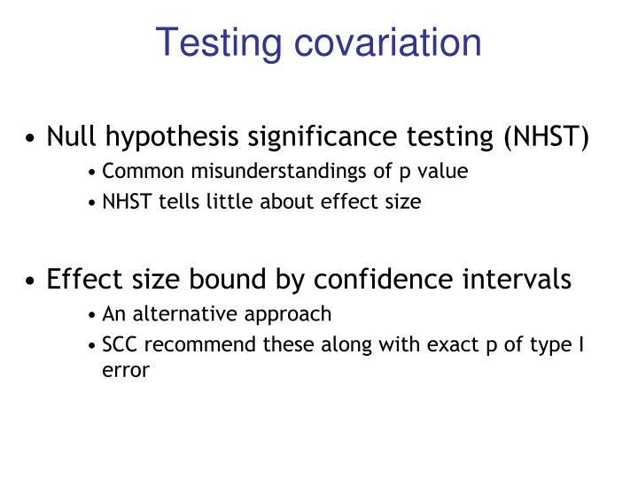Testing covariation