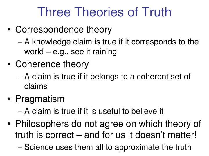 Three Theories of Truth