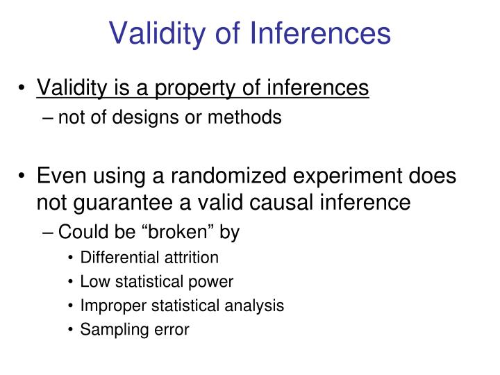 Validity of Inferences