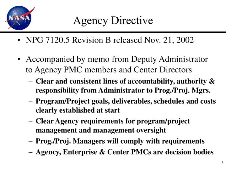 Agency Directive