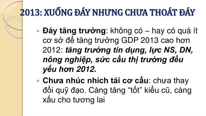 2013: XUỐNG ĐÁY NHƯNG CHƯA THOÁT ĐÁY