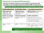 e factors do not incorporate ptp transactions