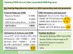 expiring crrs do not offset calculated dam exposure