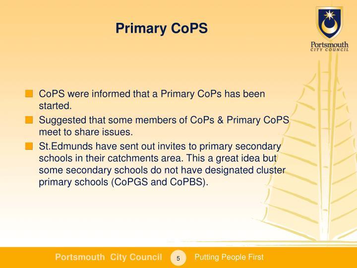 Primary CoPS