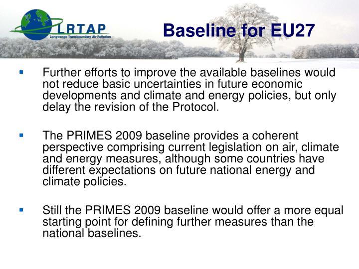 Baseline for EU27