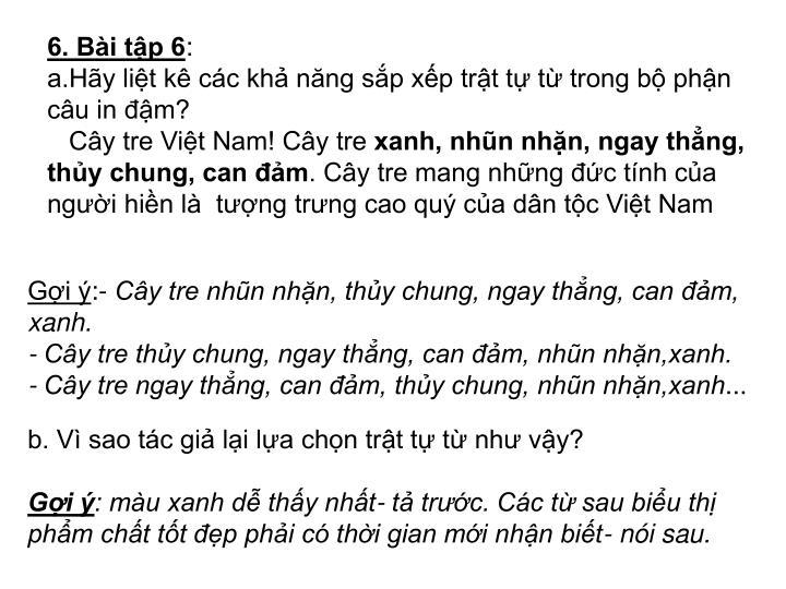 6. Bài tập 6