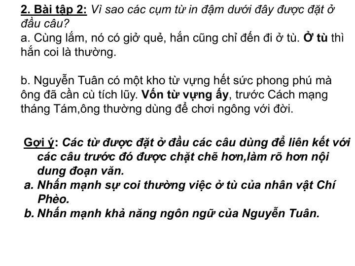 2. Bài tập 2: