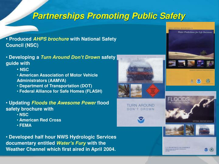 Partnerships Promoting Public Safety