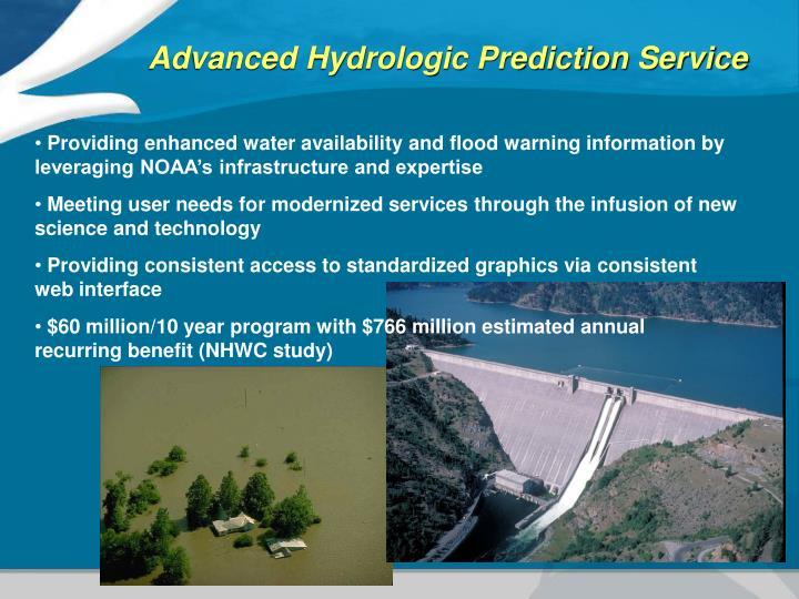 Advanced Hydrologic Prediction Service