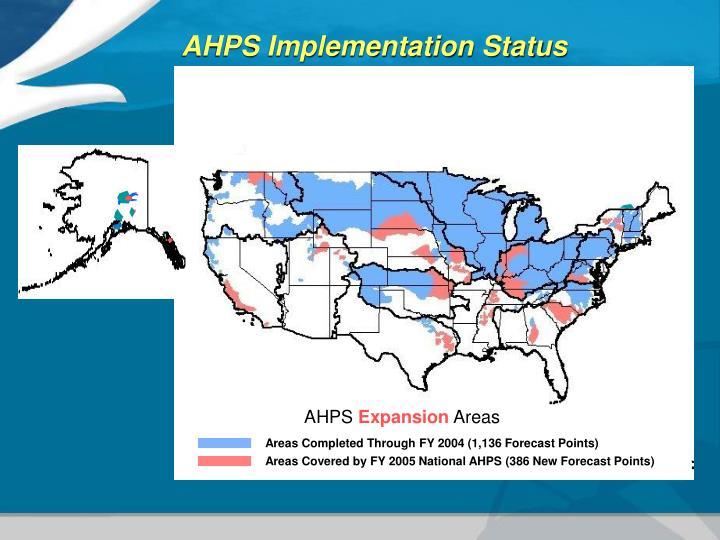AHPS Implementation Status