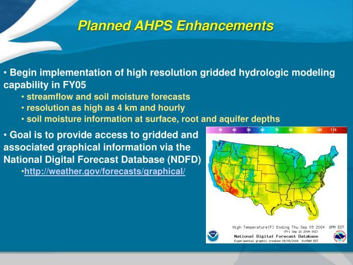 Planned AHPS Enhancements
