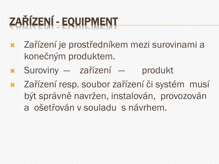 Za zen equipment