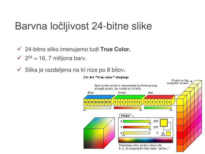 Barvna ločljivost 24-bitne slike