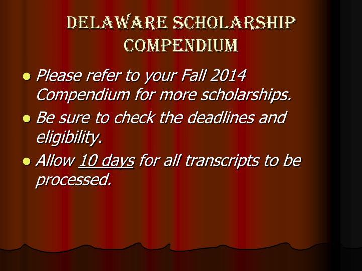 Delaware Scholarship Compendium