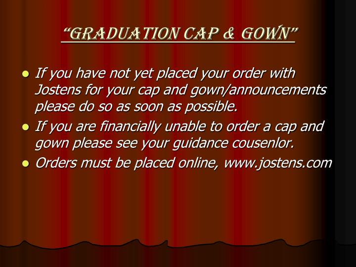 """Graduation Cap & Gown"""