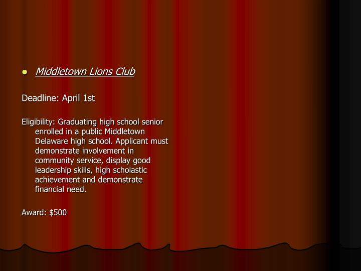 Middletown Lions Club